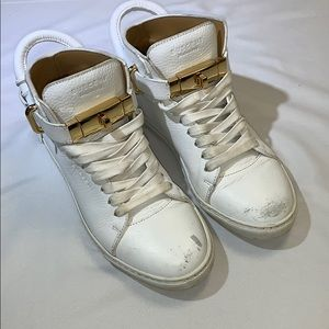 Buscemi 100M White Lock Sneakers
